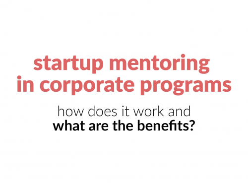startup mentoring in corporate programs